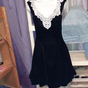 Vintage Gorgeous Black Velvet Dress